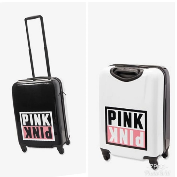 PINK Victoria's Secret Handbags - NWT LARGE VS PINK WHEELIE HARD SUITCASE LUGGAGE